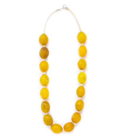 Beaded Bougie Necklace: Aqua