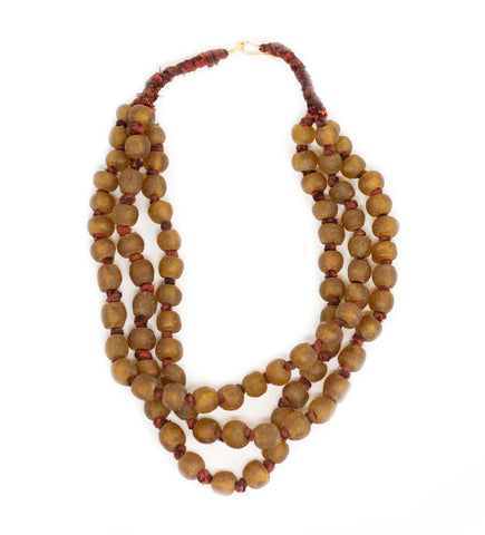 Beaded Bougie Necklace: Yellow