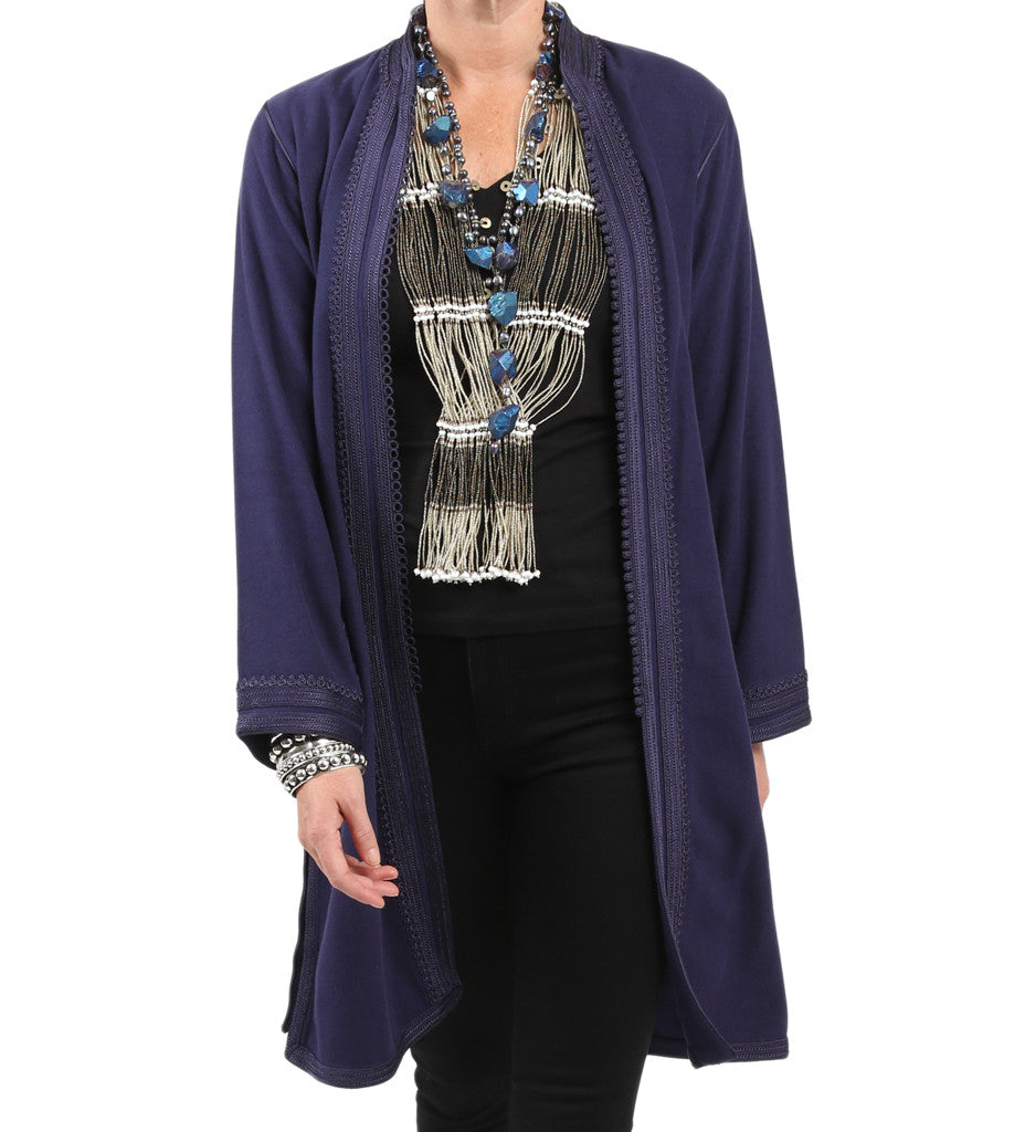 Women's Moroccan Jacket: Navy