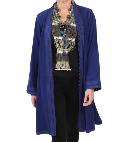 Moroccan Jacket: Bright Blue