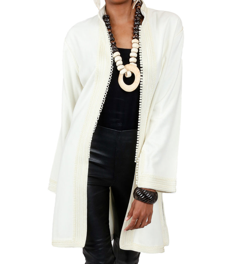 Women's Moroccan Jacket: Off White