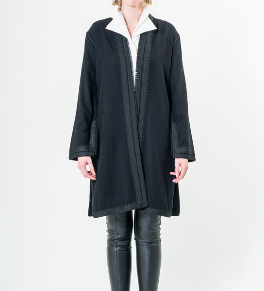 Women's Moroccan Jacket: Black on Black