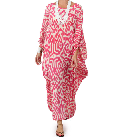 Pink Luce Cold Shoulder Caftan