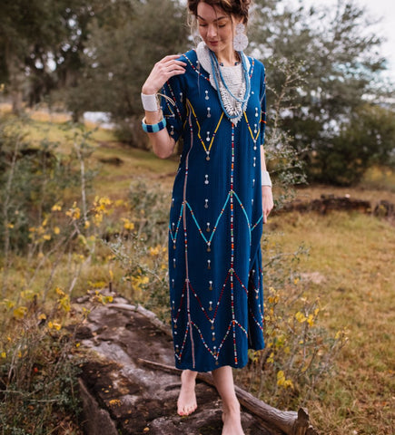 Tassel and Embroidery Dress