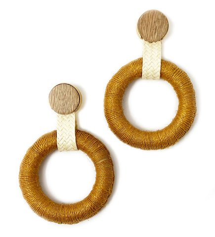 Maguey Hoop Earrings: Natural