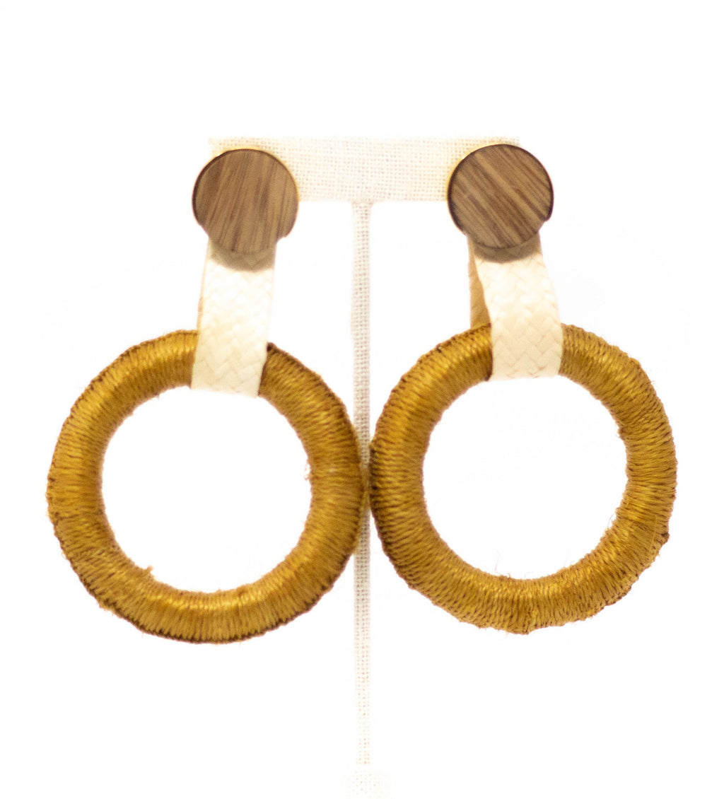 Maguey Hoop Earrings: Mustard