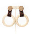 Twisted Horn Hoop Earring