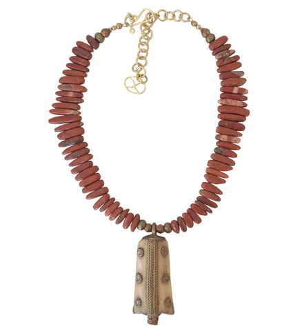 Multi Fragment Cascade Statement Horn Necklace