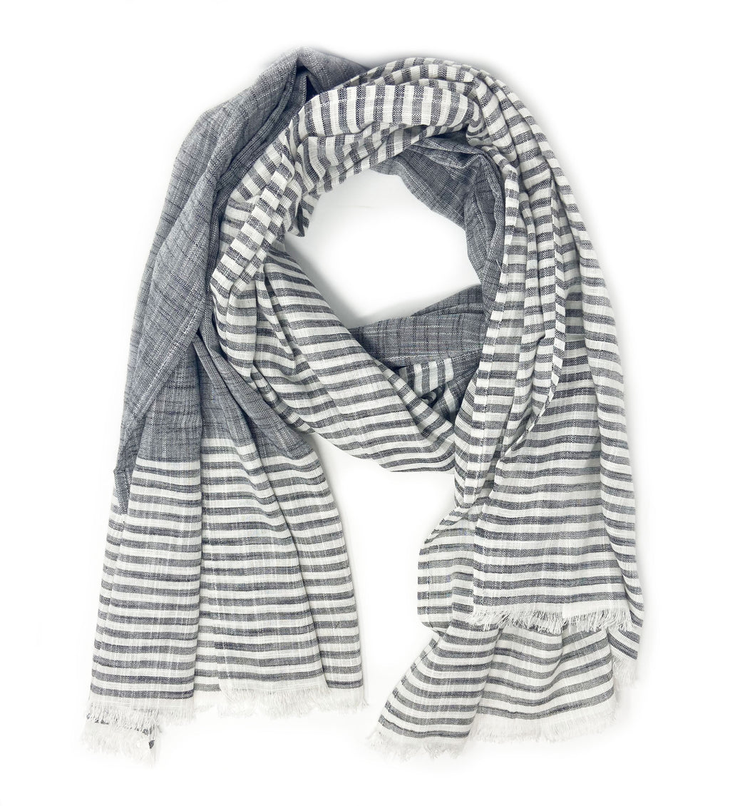 Malabar Grey Cotton Scarf