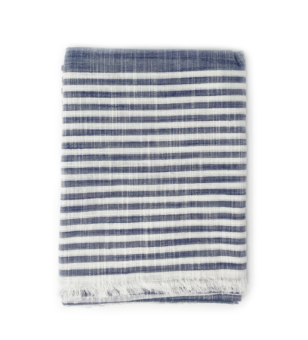 Malabar Navy Cotton Scarf