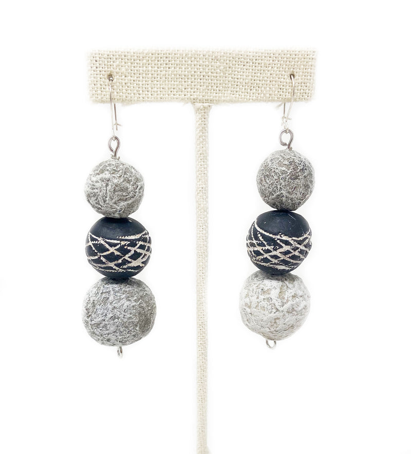 Mali Bead and Paperstone Earring
