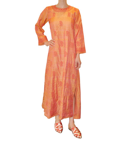 Ikat Silk Slide: Orange