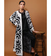Zolayka Coat: Charcoal with Ivory
