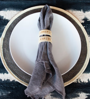 Mantra Napkin Rings: Cheers Collection
