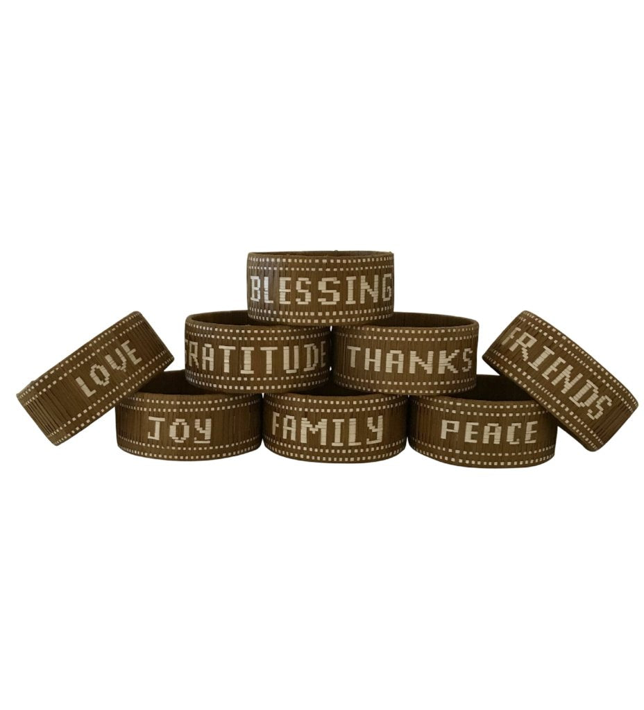 Mantra Napkin Rings: Giving Thanks Collection