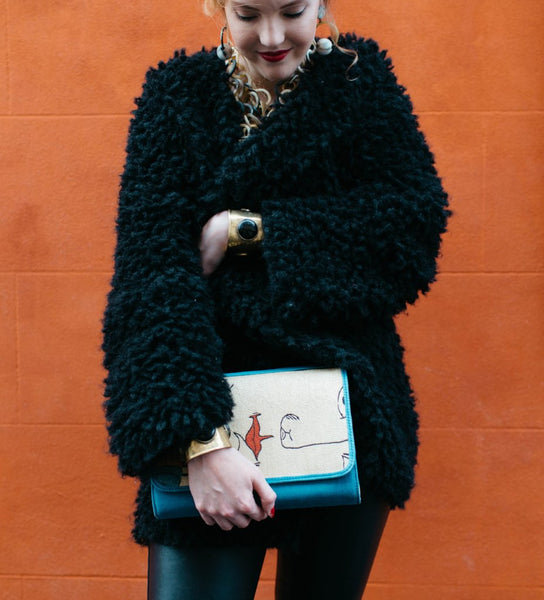 Embroidered Clutch: Face