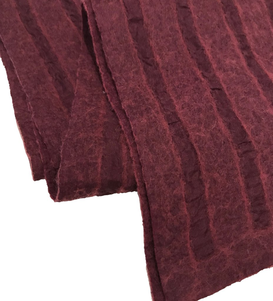 Men's Felted Shawl: Burgundy
