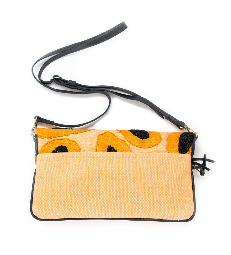 Paulina Crossbody Bag: Papaya Embroidery