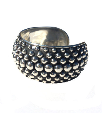 Silver from Mexico: Multi Row Dot Cuff