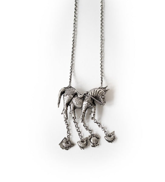 Miao Chinese Horse Necklace