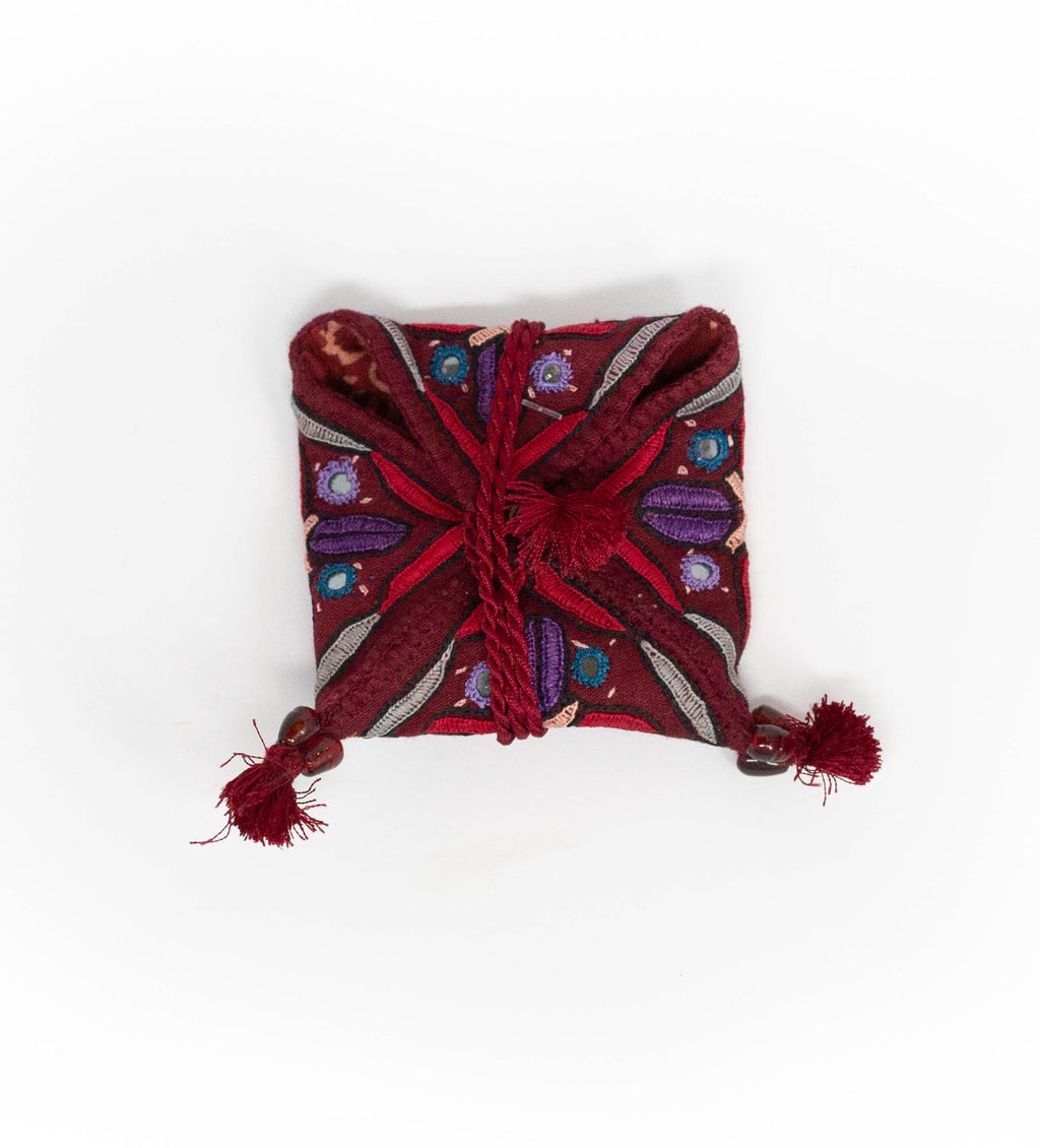 Mirrored and Embroidered Pouch: Small