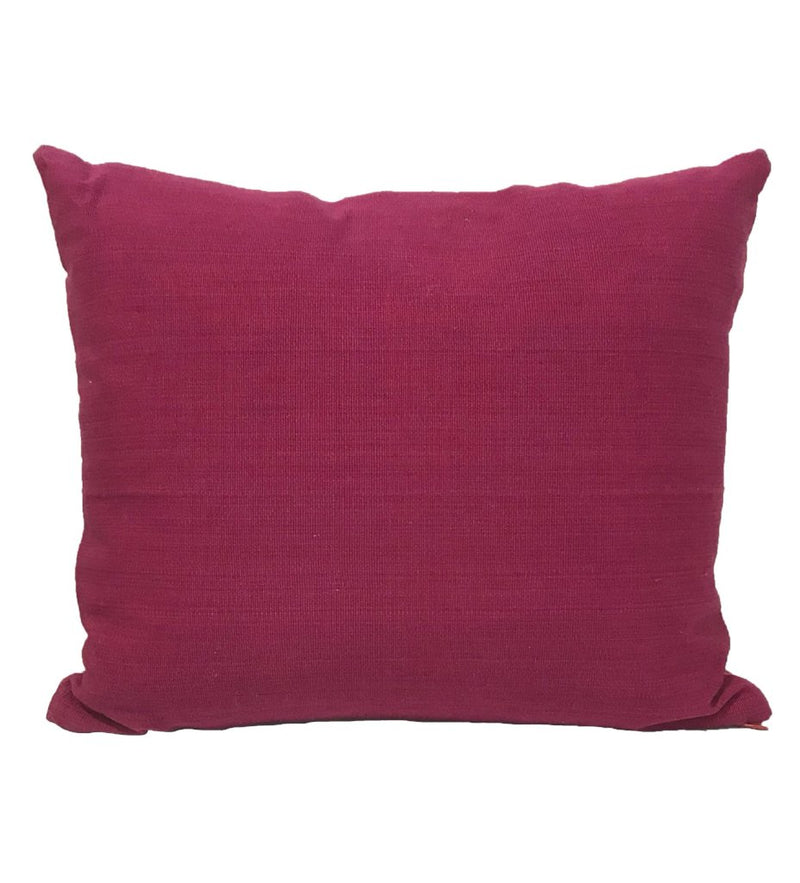 Mola Pillow: Raspberry Four Burroughs