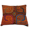 Aso Oke Pillow: Pewter/Grapefruit 22""