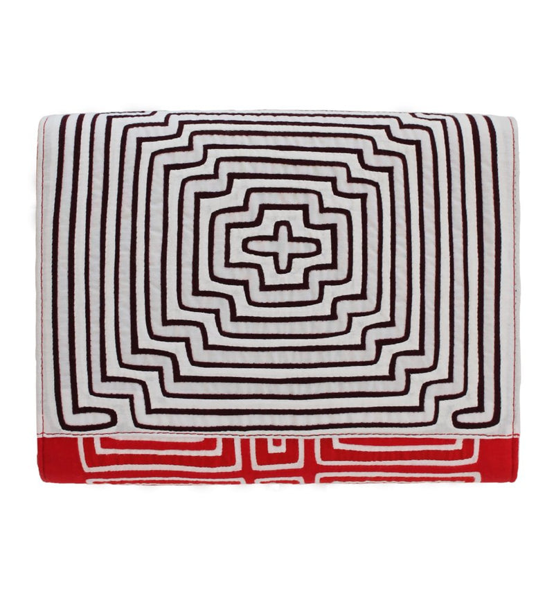 Dinit Clutch: Burgundy/Red