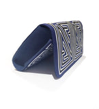 Mola Sasa Clutch: Navy and White