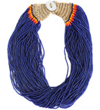 Naga Cobalt Medium Length Necklace
