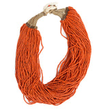 Naga Orange Necklace with Shell Closure