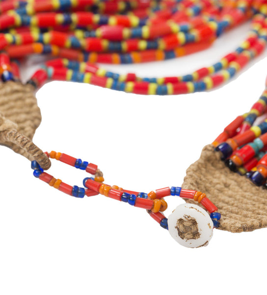 Naga Multicolor Choker: Red/Yellow/Cobalt