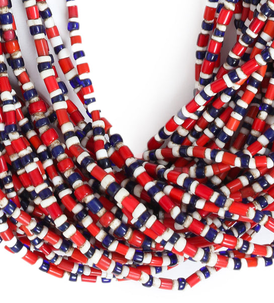 Naga Multicolor Choker Full: Red/White/Cobalt