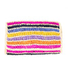Chloe Striped Clutch: Natural/Multi