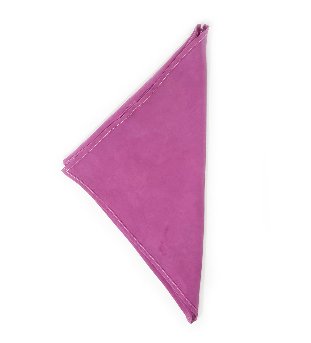 Naturally Dyed Silk Bandana: Cochineal Pink