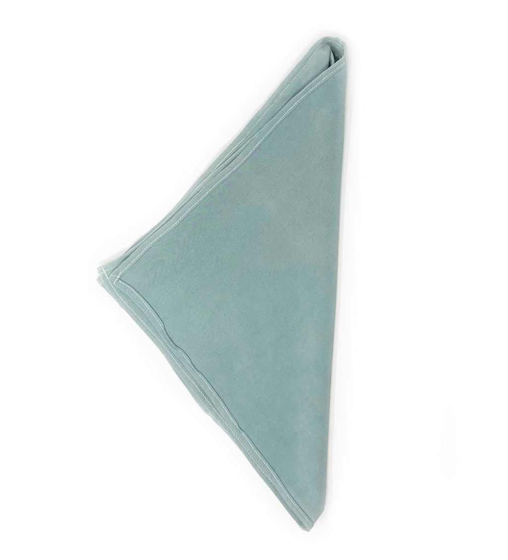 Naturally Dyed Silk Bandana: Cyan Blue