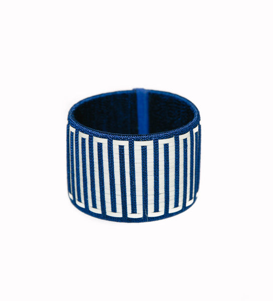 Ibu Signature Power Cuff: Navy Maze