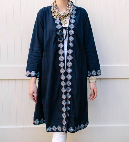 The Sufi Jacket: Navy