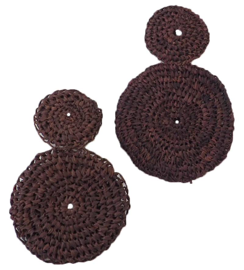 Olivia Woven Earring: Brown