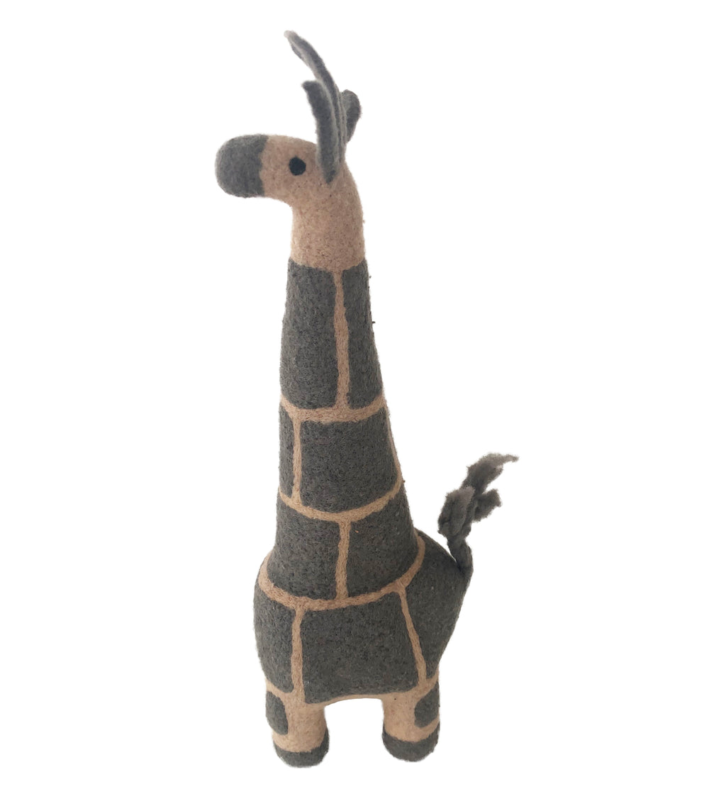 Felted Throw and Giraffe Toy Gift Set