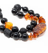 Luminescent African Glass Beads: Red Triple Strand Princess