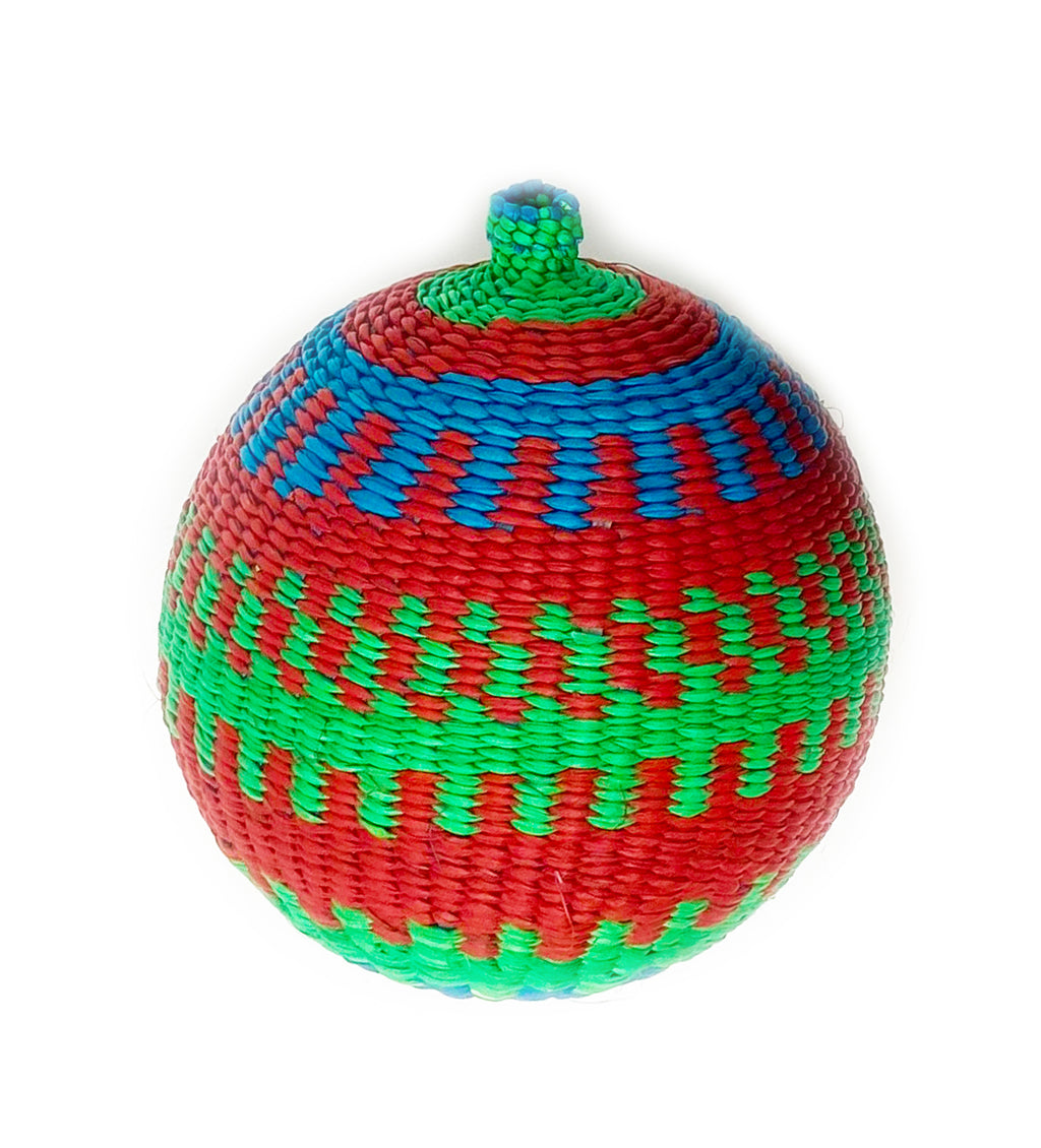 Woven Ornament: Blue, Green, Red Individual