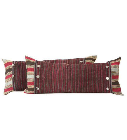 Long Laotian Bolster with Coins
