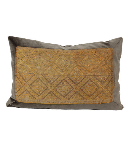Miao Silk Embroidered Pillow