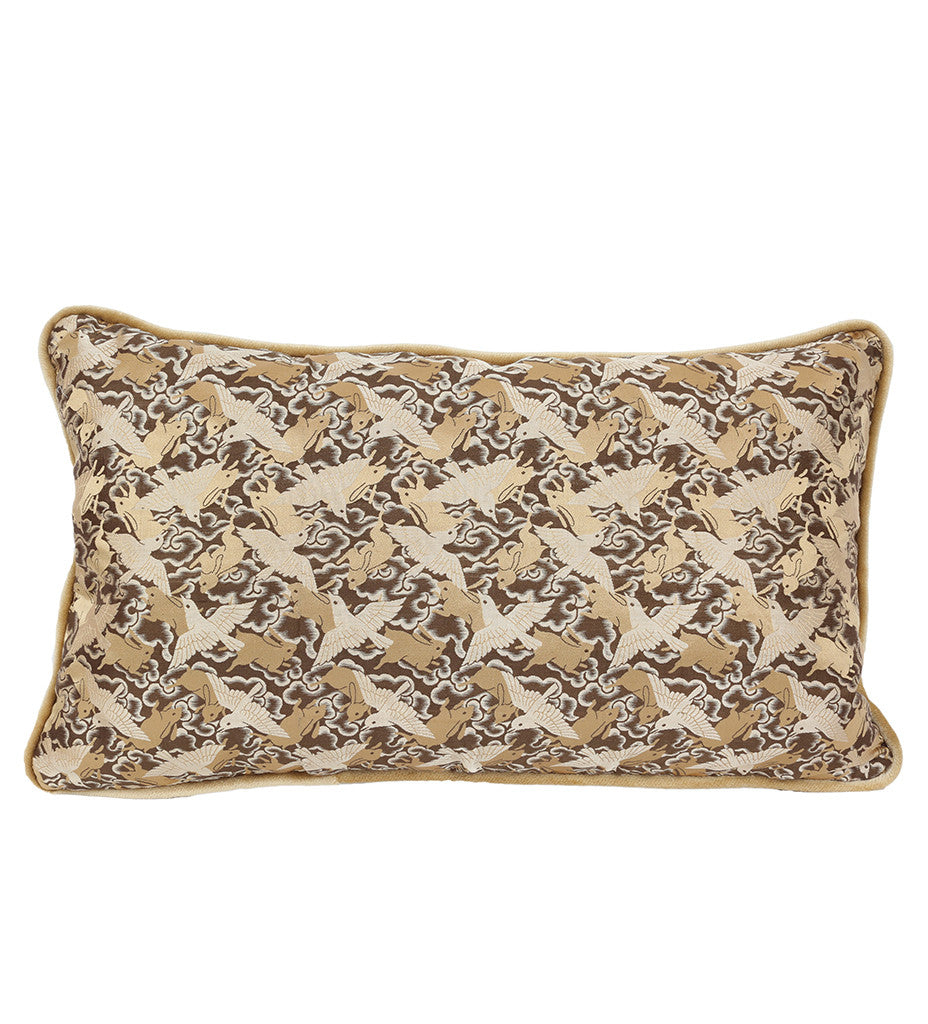 Birdie and Bunny Chase Pillow