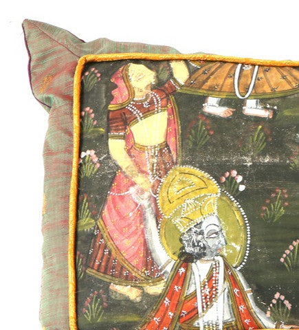 The Dance of Life:  Pichvai Pillow
