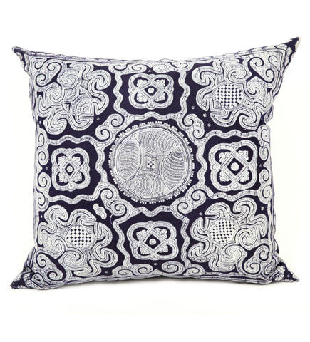Indigo Chinese Minority Pillow, Large