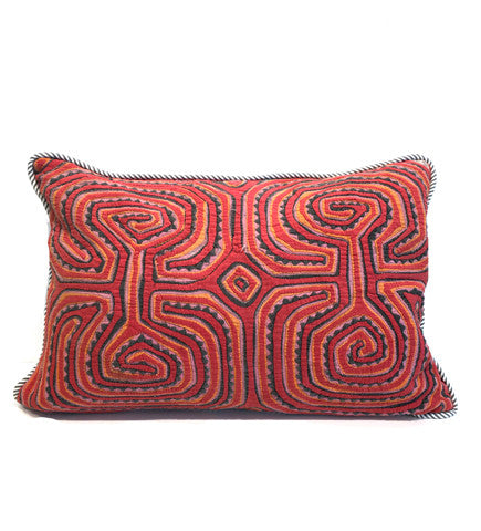Labryinth Mola Pillow: Stripe Back