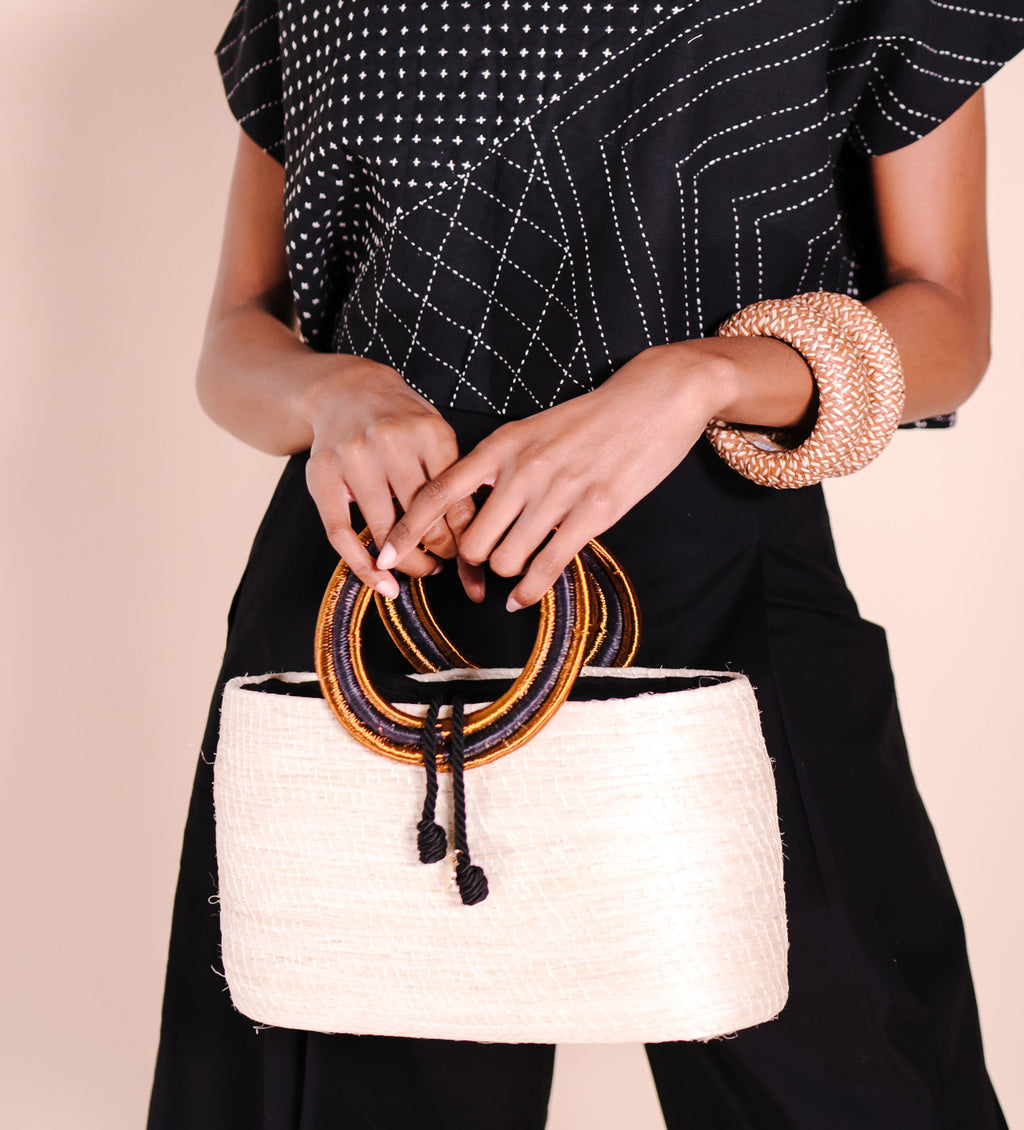 Palma Canaria Structured Bag: White