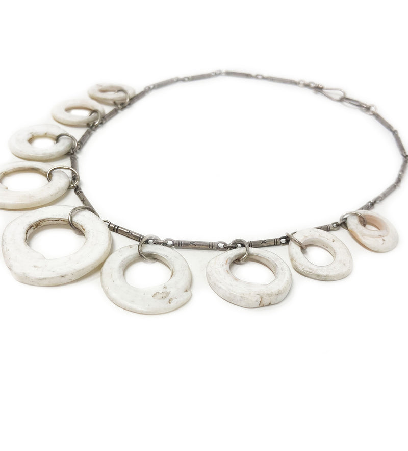 Papa New Guinea Multi Shell Necklace with Dainty Chain